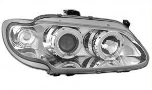 Renault Megane přední světla Angel Eyes-Chrom