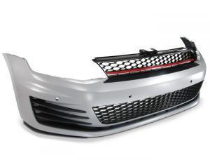 VW Golf 7 - přední nárazník vzhled GTI + přední maska bez znaku.