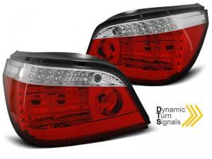 BMW E60 zadní LED světla RedWhite - Dynamický Blikač.