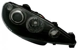 Peugeot 206 přední světla Angel Eyes-Black