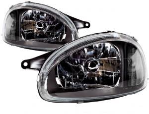 Opel Corsa přední světla-Black.