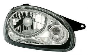 Opel Corsa přední světla Angel Eyes-Chrom
