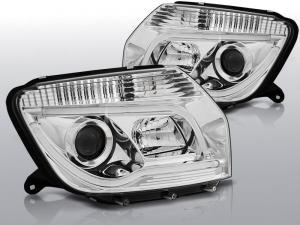 Dacia Duster přední světla - CHROME TUBE LIGHT.