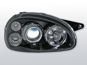 Opel Corsa přední světla Angel Eyes-Black
