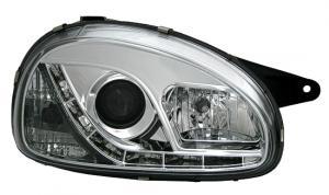 Opel Corsa přední světla DAYLINE-Chrom