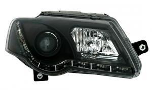 VW Passat B6 přední světla TRU DRL - Black.