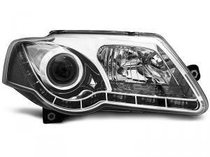 VW Passat B6 přední světla TRU DRL - Chrom.