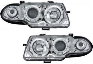 Opel Astra přední světla Angel Eyes-Chrom
