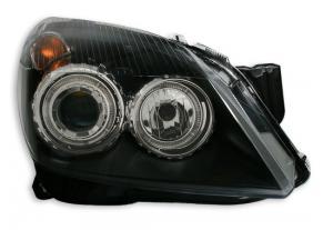 Opel Astra přední světla Angel Eyes-Black