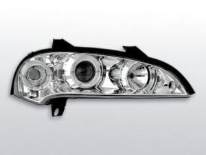 Opel Tigra přední světla Angel Eyes-Chrom