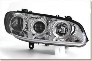 Opel Omega přední světla Angel Eyes-Chrom