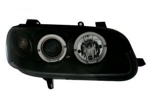 Opel Omega přední světla Angel Eyes-Black