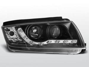 Škoda Fabia přední světla DAYLINE-Black