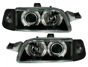 Fiat Punto přední světla Angel Eyes-Black