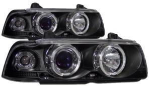 BMW E36 (coupe,cabrio) přední světla Angel Eyes-Black