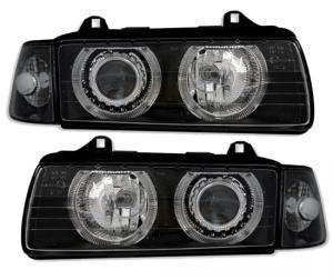 BMW E36 (sedan,touring,compact) přední světla Angel Eyes-Black
