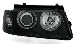 VW Passat B5 přední světla Angel Eyes-Black