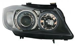 BMW E90+E91 přední světla Angel Eyes-Black