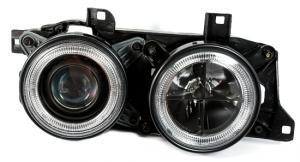 BMW E34 přední světla Angel Eyes-Black