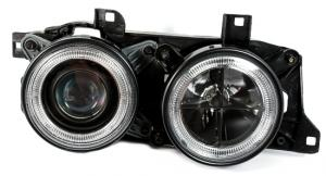 BMW E32 přední světla Angel Eyes-Black