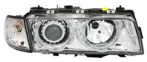 BMW E38 přední světla Angel Eyes-Chrom