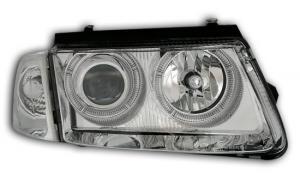 VW Passat B5  přední světla Angel Eyes-Chrom.
