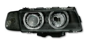 BMW E38 přední světla Angel Eyes-Black