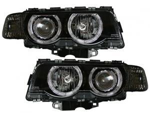 BMW E38 (facelift) přední světla Angel Eyes-Black
