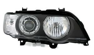 BMW X5 přední světla Angel Eyes-Black. XENON