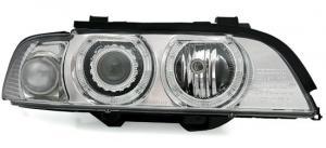 BMW E39 přední světla Angel Eyes-Chrom