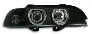 BMW E39 přední světla Angel Eyes-Black. XENON