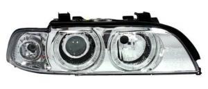 BMW E39 přední světla Angel Eyes-Chrom. XENON