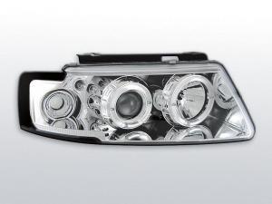 VW Passat B5 přední světla Angel Eyes-Chrom