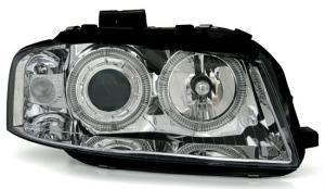 Audi A3 přední světla Angel Eyes-Chrom