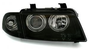 Audi A4 přední světla Angel Eyes-Black