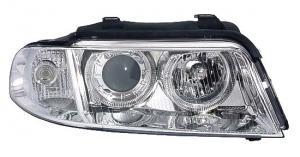 Audi A4 přední světla Angel Eyes-Chrom