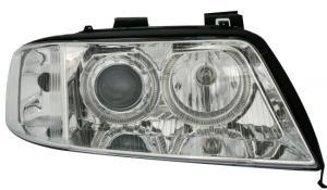 Audi A6(facelift) přední světla Angel Eyes-Chrom