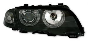 BMW E46 (sedan + touring) přední světla Angel Eyes-Black