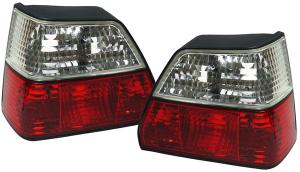 VW Golf 2 zadní crystal světla Red/White.