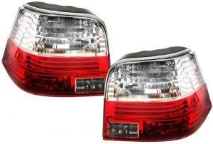 VW Golf IV zadní crystal světla Red/White.
