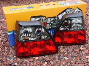 VW Golf 2 zadní crystal světla Red/Smoke.