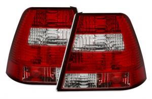 VW Bora zadní crystal světla Red White.