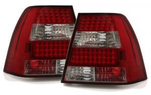 VW Bora zadní LED crystal světla Red/White.